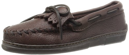 Minnetonka Women's Moosehide Fringed Kiltie Moccasins Chocolate 6.5 W US