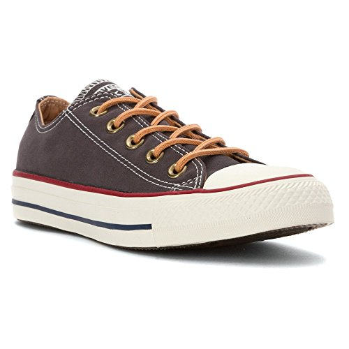 - Converse Mens Chuck Taylor All Star Peached Canvas Oxford Fashion Sneaker, Almost Black (5)