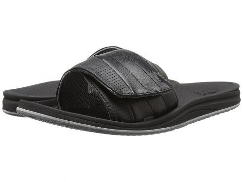 火炎暴君騒New Balance(ニューバランス) メンズ 男性用 シューズ 靴 サンダル フラット Purealign Recharge Slide - Black/Grey 14 D - Medium [並行輸入品]