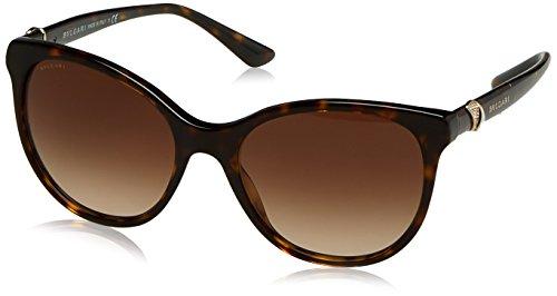 Bvlgari Women's BV8175B Sunglasses Dark Havana/Grey Gradient 55mm