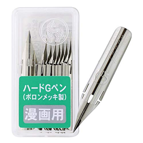 - Zebra Comic Pen Nib- Type Professional - G Model Hard Type - Chrome - 10 Pack (PG-8B-C-K)
