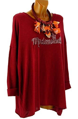 Grande Tunique Bordeaux bohme Mademoiselle Charleselie94 t Bordeaux Bordeaux Shirt Taille wHx6dEZqR