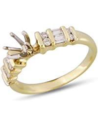 Womens Channel Diamond Engagement Ring Semi Mount 14k Yellow Gold .25 cttw