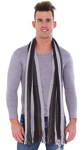 Simplicity Winter Striped Scarf Tassels