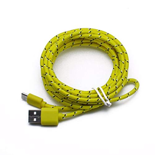 - Lefthigh USB Data Charger Cable, 3M/10FT USB Type C Cable USB 2.0 to USB Type-C Fast Charging & Sync Data Cable (Yellow)