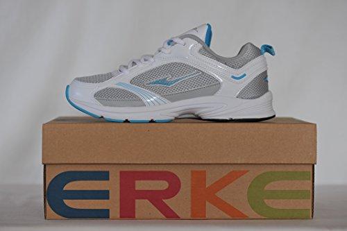 et Bleue Chaussures Erke Femmes Blanche ciel de Running 4qTwO8
