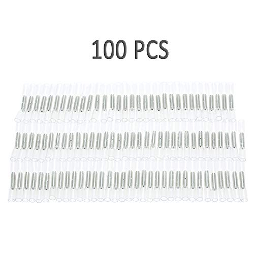 KENTT 100PCS 26-24 AWG Car Insulated Heat Shrink Butting Connector Waterproof Sleeving Wire Electrical Crimp Terminal Connect Tube (Best Electric Bikes Denver)