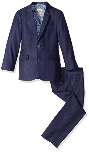 Appaman Little Boys' Toddler Mod Suit, Navy Herringbone, 4 -