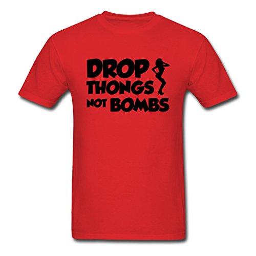 - Top Sky 1 Fashionable Design Thongs Drop Red Men's T-Shirt XXL