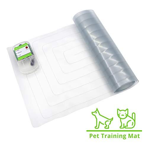 penobon Pet Training Mat, Waterproof Electronic Pet Training Scat Shock Mat Keep Pets Off Furniture Sofa Pet Indoor use Dog Repellent Mat (3016 inch) ()