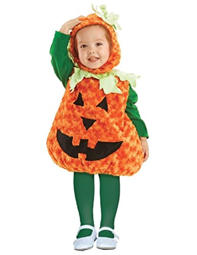 Toddler Pumpkin (Underwraps Toddler's Halloween Pumpkin Belly Babies Costume, Orange, Medium (18-24))