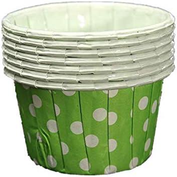 Happy_Child 100枚入り カップケーキ型 マフィンカップ ベーキングカップ 金型 ラッパーペーパー グーリンドット【サイズ:68x50x39mm グーリン】