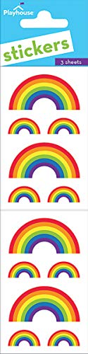 Playhouse Classic (Playhouse Classic Rainbows Pack of Three Perforated Sticker Sheets)