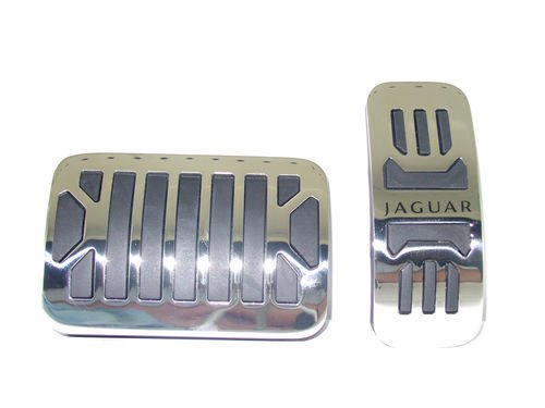 Jaguar OEM Accessory Gas and Brake Pedal Stainless Steel Covers by Jaguar