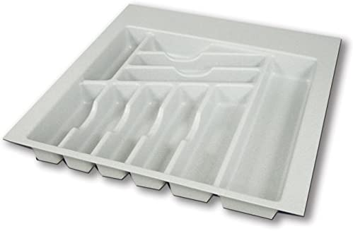 White Vance 4W3021SS 30x21 Trimmable Universal Spice Drawer Organizer