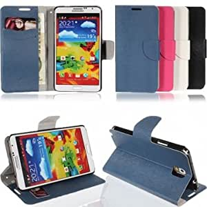 Flip Leather ID Card Wallet Stand Case For Samsung Galaxy Note 3 N9000 --- Color:Black