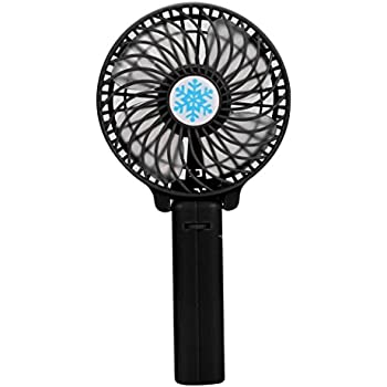 JSPOYOU Portable Handheld USB Mini Air Conditioner Cooler Fan Rechargeable Battery White