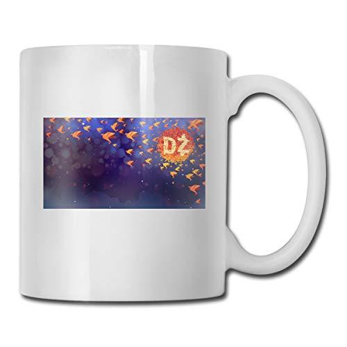 Porcelain Coffee Mug Origami Crane Orange Ceramic Cup Tea Brewing Cups for Home Office ()