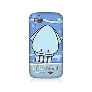 Mr. Squid Sea Creature Design Protective Back Case Cover for HTC Sensation XE Sensation