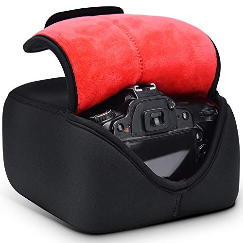 CADEN DSLR SLR Camera Case Large, Camera Sleeve Case with Neoprene Protection Compatible with Nikon Canon Pentax and More