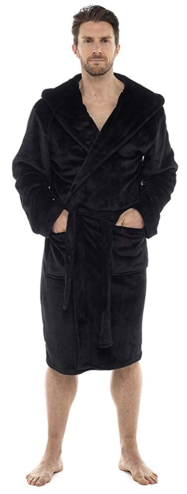 Michael Paul Vestaglia da uomo in morbido pile