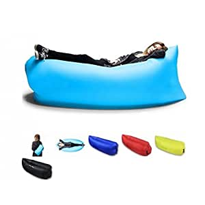 Theoutlettablet® Sofá Cama Hinchable Tumbona Inflable de Aire Puff ...
