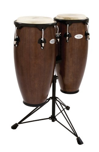 Drum Conga Set (Toca 2300TOB Synergy Series Conga Set with Stand - Tobacco)