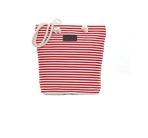 Sac vacances stripe Samanthajane thin estivales Red pour Clothingtm de toile en femme 6Sw6rBRq