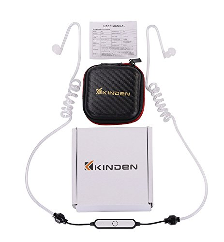 kinden sports radiation free bluetooth headphones air tube headset with microphone and volume. Black Bedroom Furniture Sets. Home Design Ideas