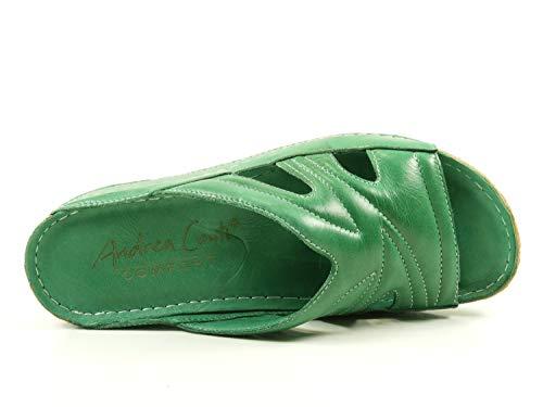 Cuero Verde Zuecos 0799214 Material Andrea Mujer Conti De q0X477wE