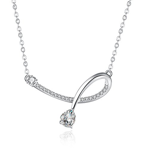 Silver Plated Fashion Necklace Simple Pendant Necklace Inlay Cubic Zirconia For Women - Matthew L. Garcia
