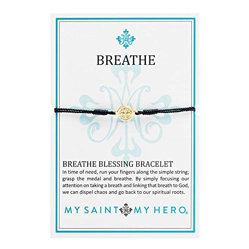 My Saint My Hero Breathe Bracelet - Black/Gold ()
