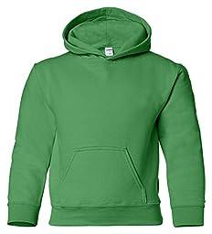 Gildan boys Heavy Blend Hooded Sweatshirt(G185B)-IRISH GREEN-M