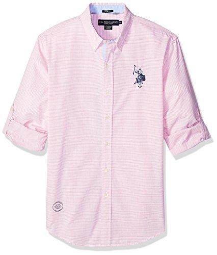 U.S. Polo Assn. Mens Long Sleeve Classic Fit Striped Shirt