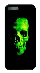 iPhone 5s Cases & Covers - Green Skull PC Custom Soft Case Cover Protector for iPhone 5s - Black