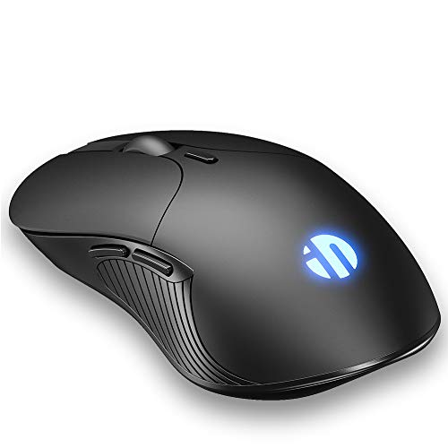 INPHIC Wireless Mouse Wiederaufladbare, 2.4G Silent Computer Wireless Mouse, 1600 DPI, 6 Tasten Mäuse für Laptop Notebook, PC, MacBook Durable Slim, Business Office Home Mouse (schwarz)