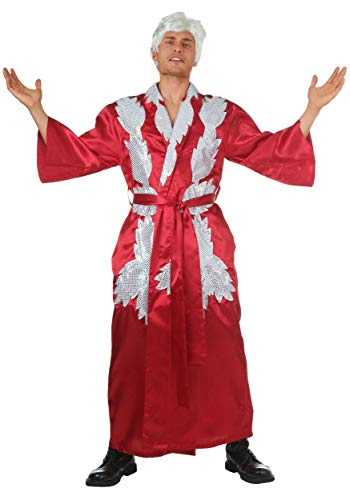 Adult RIC Flair Costume WWE RIC Flair Robe and Trunks for Men Large Red]()