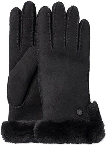 UGG Women's Side Vent Sheepskin Gloves with Slim Pile Black MD