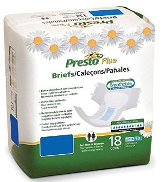 PRTABB21060 - Presto Absorbent Products Inc. Presto Plus Breathable Brief XX-Large