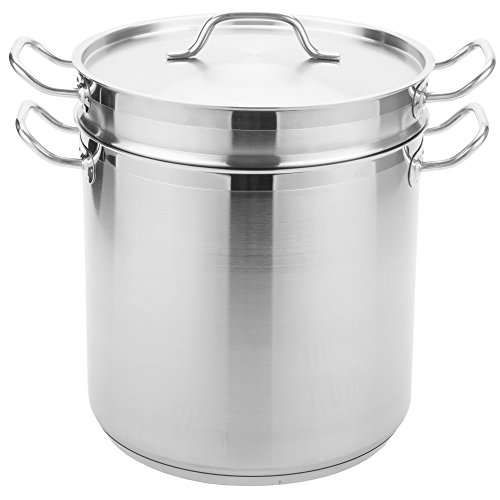 TableTop King 20 Qt. Stainless Steel Aluminum-Clad Pasta Cooker Combination by TableTop King