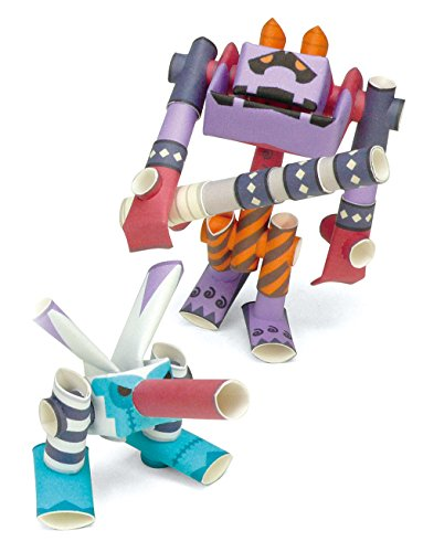 PIPEROID Mosqula & Onidevil Paper Craft Robot kit from Japan - Mosquito & His Super Robot -