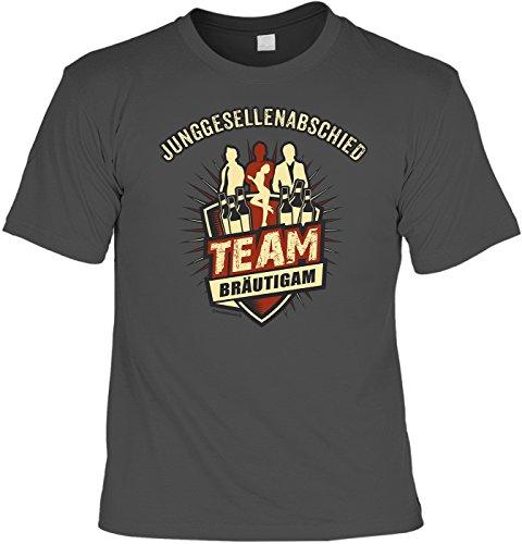T-Shirt - Junggesellenabschied - Team Bräutigam grau - lustiges Sprüche Shirt als Geschenk für den Junggesellenabschied