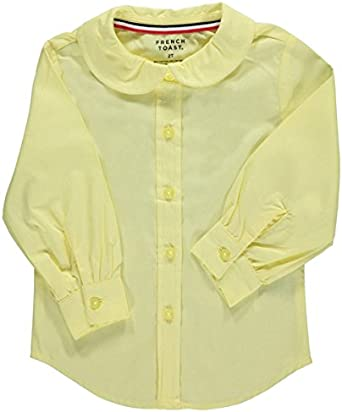 French Toast Little Girls Toddler L//S Peter Pan Blouse