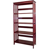 ORE International 4 Tier Bookshelves - Cherry