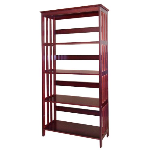 ORE International 4 Tier Bookshelves - Cherry ()