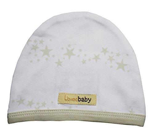 L'ovedbaby Unisex-Baby Organic Infant Cap (NB/Preemie (4-7 lbs), Stone Stars) Mauve Stone