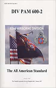 82nd abn div pam 600 2 the all american standard 82nd. Black Bedroom Furniture Sets. Home Design Ideas