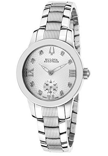 Accutron Women Stainless Steel Diamond Watch - 5