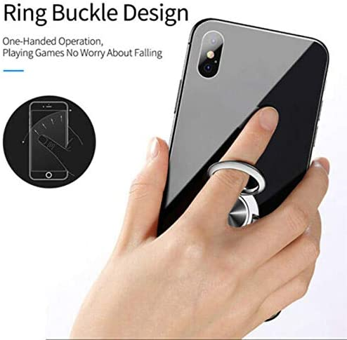 Syfinee Multipurpose 2 in 1 Mobile Phone Ring Bracket Rotating Card Holder Finger Kickstand Stand Car Vent Clip Metal Mount 6.3x3.5CM for All Smartphone, Safe Driving: Amazon.es: Hogar