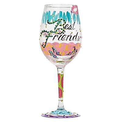 Lolita My Tiara Artisan Painted Wine Glass Gift
